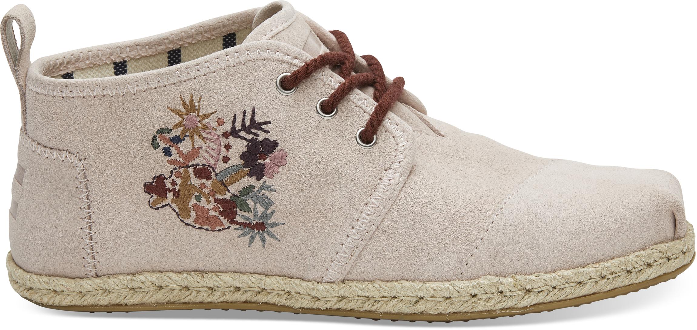5ee18eedf70d6 Dámske ružové členkové topánky TOMS Embroidery Botas - Glami.sk