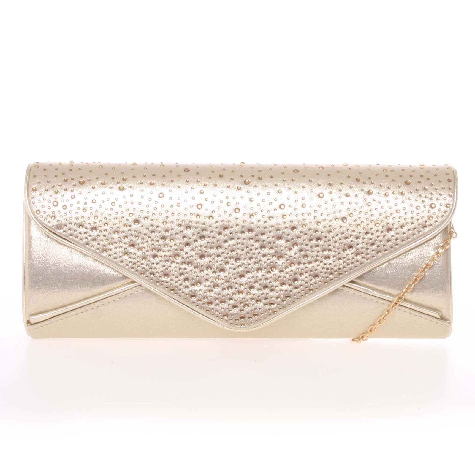 d0aa73330 Exkluzívna dámska zlatá listová kabelka - Delami D547 zlatá - Glami.sk