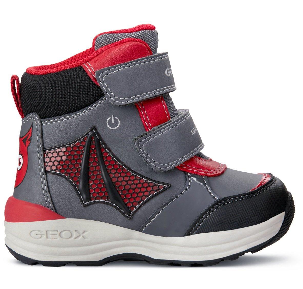 a2f463d70 Geox Chlapčenské zimné topánky New Gulp - šedo-červené - Glami.sk