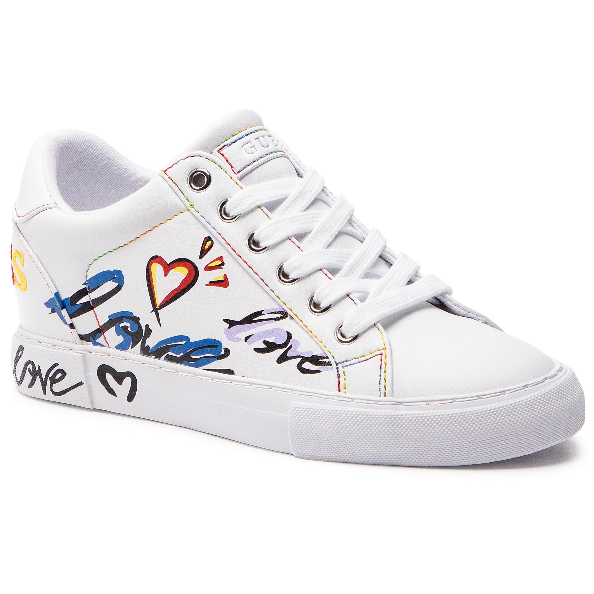 70812750d189a Sneakersy GUESS - FL5PXT ELE12 WHITE - Glami.sk