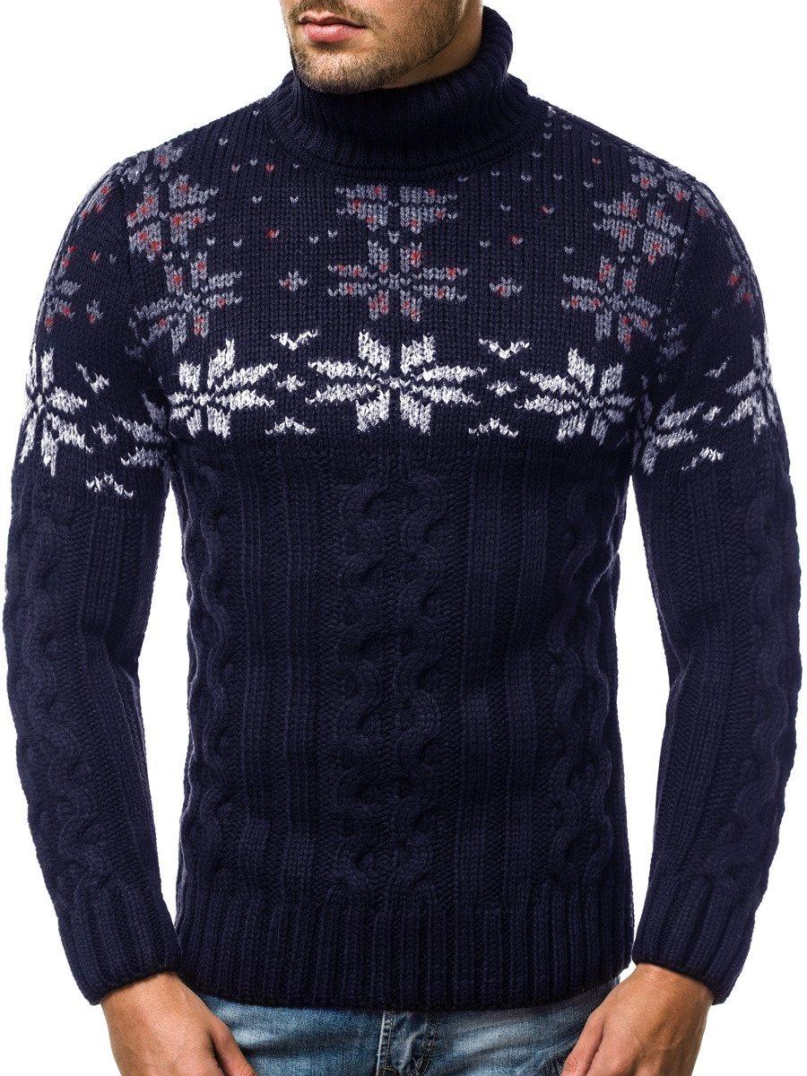 Pánsky sveter Námornícky Modry OZONEE MAD2808