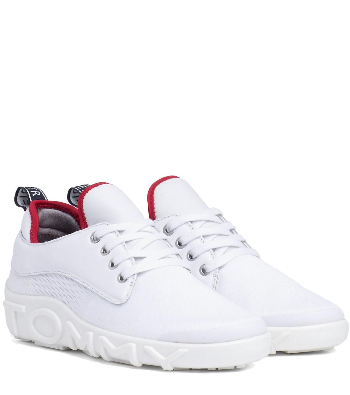 9c64ee8f9b61c Tommy Hilfiger biele tenisky Knit Tommy Sneaker RWB - Glami.sk