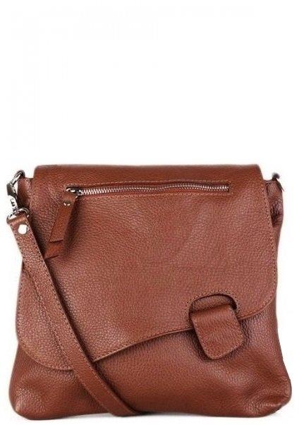 a22abf2e1b734 Talianske dámske kožené kabelky dámske cez rameno stredné hnedé Olina. 1