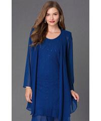 599148421 Glamor Dámsky spoločenský kostým modrý