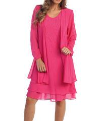 aa2ea6ae5 Glamor Dámske spoločenské ružové šaty na svadbu
