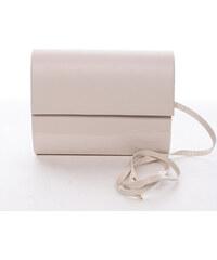 1e26f8893 Stredná dámska elegantná listová kabelka béžová lesklá - Delami Sandiego  béžová