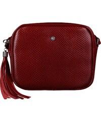 4cd4d3cbd Lakovaná dámska kožená kabelka Wojewodzic červená 31606/PC02/PL02