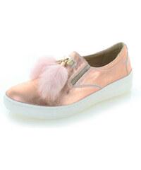 ae463dfa9 Olivia Shoes Ružovozlaté kožené slip-on tenisky Dolly