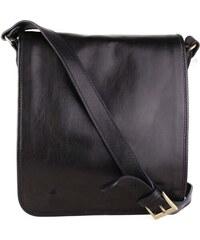 d9234df1d Talianske dámske kožené kabelky športové crossbody čierne Astrid ...