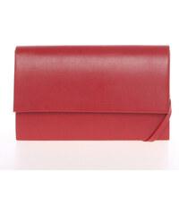 bf7e65f67 Štýlová dámska listová kabelka červená matná - Delami Boston červená