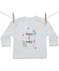 22fa3190d Boodyy Tričko s dlhým rukávom s menom dieťaťa a dátumom Dievča 68 (3 ...