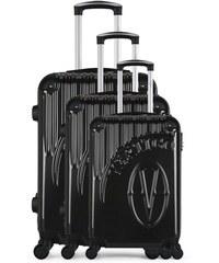 7dd2e27f958e0 Sada 3 tmavosivých cestovných kufrov na kolieskach VERTIGO Cadenas Integre