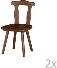 61623cb0a Sada 2 jedálenských stoličiek z masívneho borovicového dreva Interlink Aosta