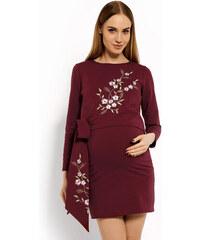 d3295706c Kvetované, tehotenské Šaty s dlhým rukávom | 20 kúskov na jednom ...
