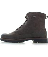 208ed70d16263 Klondike Pánske tmavohnedé kožené členkové topánky Wyne