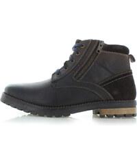 771e5e7033685 Klondike Pánske tmavohnedé kožené členkové topánky Derian