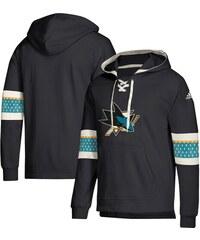 3c3547ff6 San Jose Sharks pánska mikina s kapucňou black Adidas Jersey Lace-Up  Pullover Hoodie