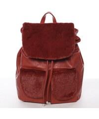 4f2d5ee260d49 Stredný dámsky mestský batôžtek červený -Silvia Rosa Ximena červená