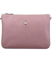 c18e97cca WOJEWODZIC Kvalitné stredné luxusné kožené kabelky crossbody ružové 31510/