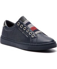 00b0c4365c719 Sneakersy TOMMY HILFIGER - Tommy Elastic Essential Sneaker FW0FW03707 Midnight  403