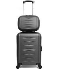 c8e3c8b05e198 Sada 2 sivých cestovných kufrov na kolieskach Infinitif Oviedo