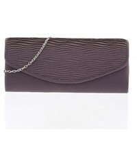 edf0eaf83 Atraktívna dámska saténová tmavosivá listová kabelka - Delami K016 šedá