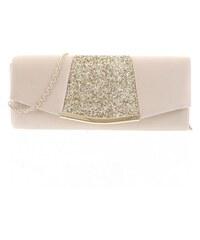 05cd189b5 Noblesná dámska saténová listová kabelka zlatá - Delami JY7073 zlatá