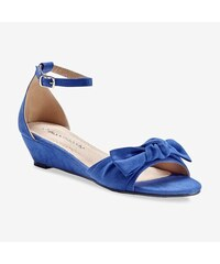 54296bcda7514 Blancheporte Sandále na kline s mašľou modrá