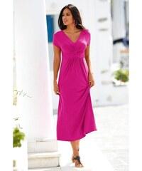 fda78d1a9 Blancheporte Dlhé šaty s krátkymi rukávmi indická ružová