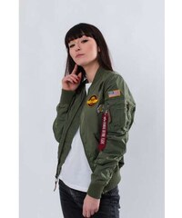 ea0664f28 Dámska bunda ALPHA INDUSTRIES MA-1 TT PATCH II WMN 01 ZELENÁ S