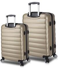 ea03c802c62eb Myvalice Sada 2 cestovných kufrov na kolieskach s USB porty v zlatej farbe  My Valice RESSNO