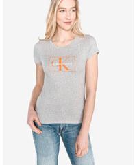 c749c19c6 Tmavomodré dámske tričko s potlačou Calvin Klein Jeans Shrunken ...