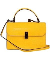 efce25018 TALIANSKE Talianska dámska kožená kabelka do ruky žltá Izabela giallo  genuine leather