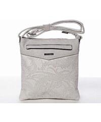 45fd49c2d Štýlová elegantná svetlosivá crossbody kabelka so vzorom - Silvia Rosa  Nicole šedá
