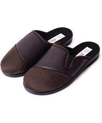 3e297094db445 Vlnka manufacture s.r.o. Pánske kožené celoročné papuče hnedá Velikost obuv  dospělé: 41