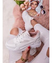 9e1d002281841 MODANOEMI Dámske mohutné bielo-ružové tenisky BL153BR - Glami.sk