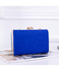 484560b5c ikabelky Dámska spoločenská semišová kabelka K-Z672 kráľovská modrá