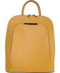 69ee04b2969dd TALIANSKE Vera Pelle žltý dámsky kožený ruksak/batoh Taliansky veľký Samuela