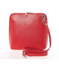 d3e2d21c3 ItalY Dámska kožená crossbody kabelka svetlo červená - Italo Hannah červená