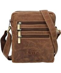 38b931e41 Pánska taška cez rameno Always Wild Emil - svetlo hnedá