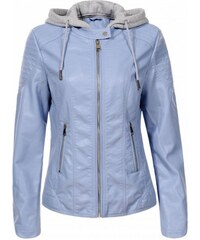 f469893dfa086 KOKAI New Collection Modrá dámska bunda Dantona s kapucňou