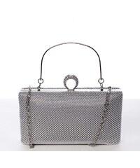 4e72d0478 Michelle Moon Módna perleťová listová kabelka strieborná - Delami V4900  strieborná