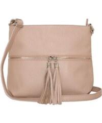 7b3f56a883153 TALIANSKE Talianska kožená športová kabelka Genuine leather ružová Plasida