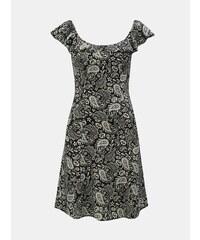 57c35ba85 Bielo–čierne vzorované šaty s odhalenými ramenami Dorothy Perkins