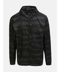 b9dcb8dc6eeec Sivo–čierna pánska vzorovaná bunda adidas Performance Own The Run
