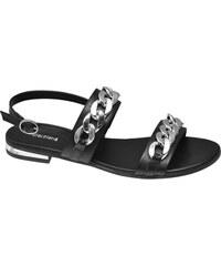 ea115bc5fd4a7 Čierne Dámske sandále z obchodu Deichmann.sk   90 kúskov na jednom ...