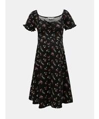 90d496fd7 Čierne tehotenské kvetované šaty Dorothy Perkins Maternity