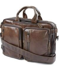 1af96d0f09489 Delton Bags Tmavohnedá kožená multifunkčná taška Aztec