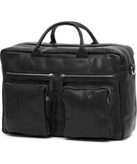 6eb1c9b9ee866 Lucleon Montreal Combi čierna kožená cestovná taška