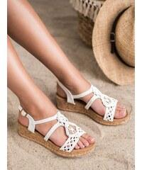 c2b6b07a1a480 Biele Dámske sandále | 1 260 kúskov na jednom mieste - Glami.sk